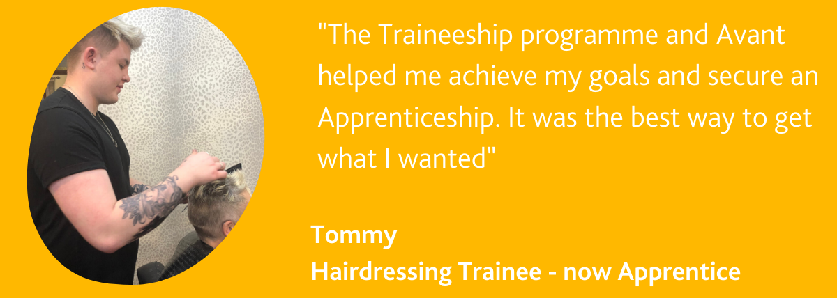 Tommy from Beach Hair in Cleethorpes recommends the Traineeship Programme by Avant Skills Academy in Grimsby